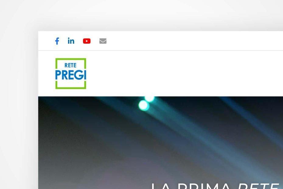 """Sito Web """"Vetrina"""" di Rete PREGI, per trovare nuovi clienti e retisti"""