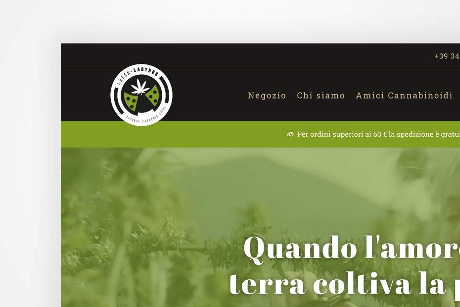 """Sito """"Negozio"""" di Green Ladybug, per vendere in tutta Italia"""