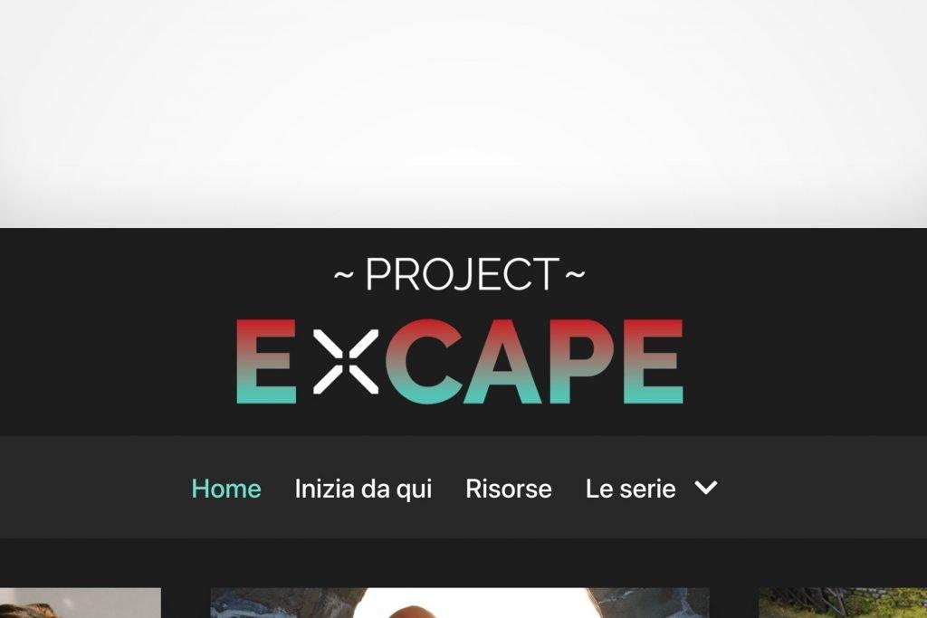 """Sito """"Vetrina"""" Project Excape, il Blog che ogni scrittore merita"""