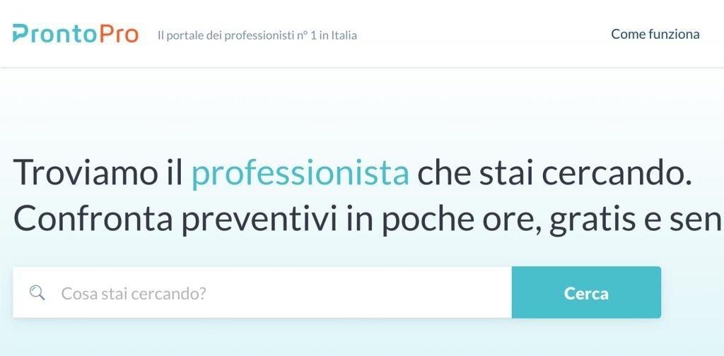 ProntoPro può essere un buon modo per trovare i primi clienti da Libero Professionista.